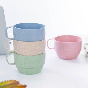 Wheat fiber simple coffee cup