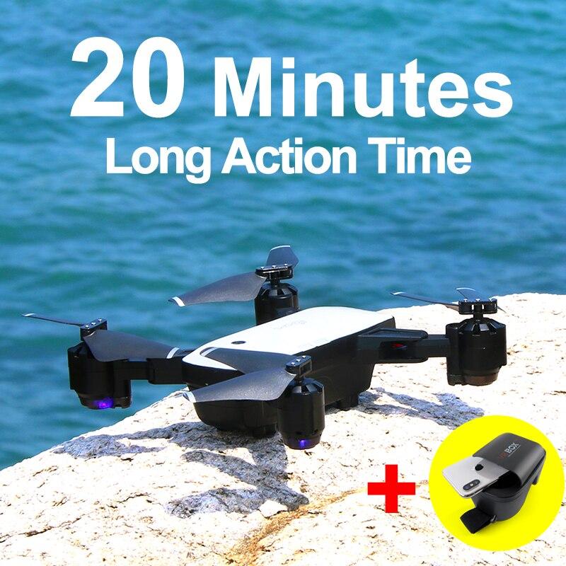 SMRC S20 Drone con HD 1080 p Wifi Cámara quadcopter Hovering FPV Quadcopters 5MP plegable RC helicóptero juguete bolsa de almacenamiento para niño