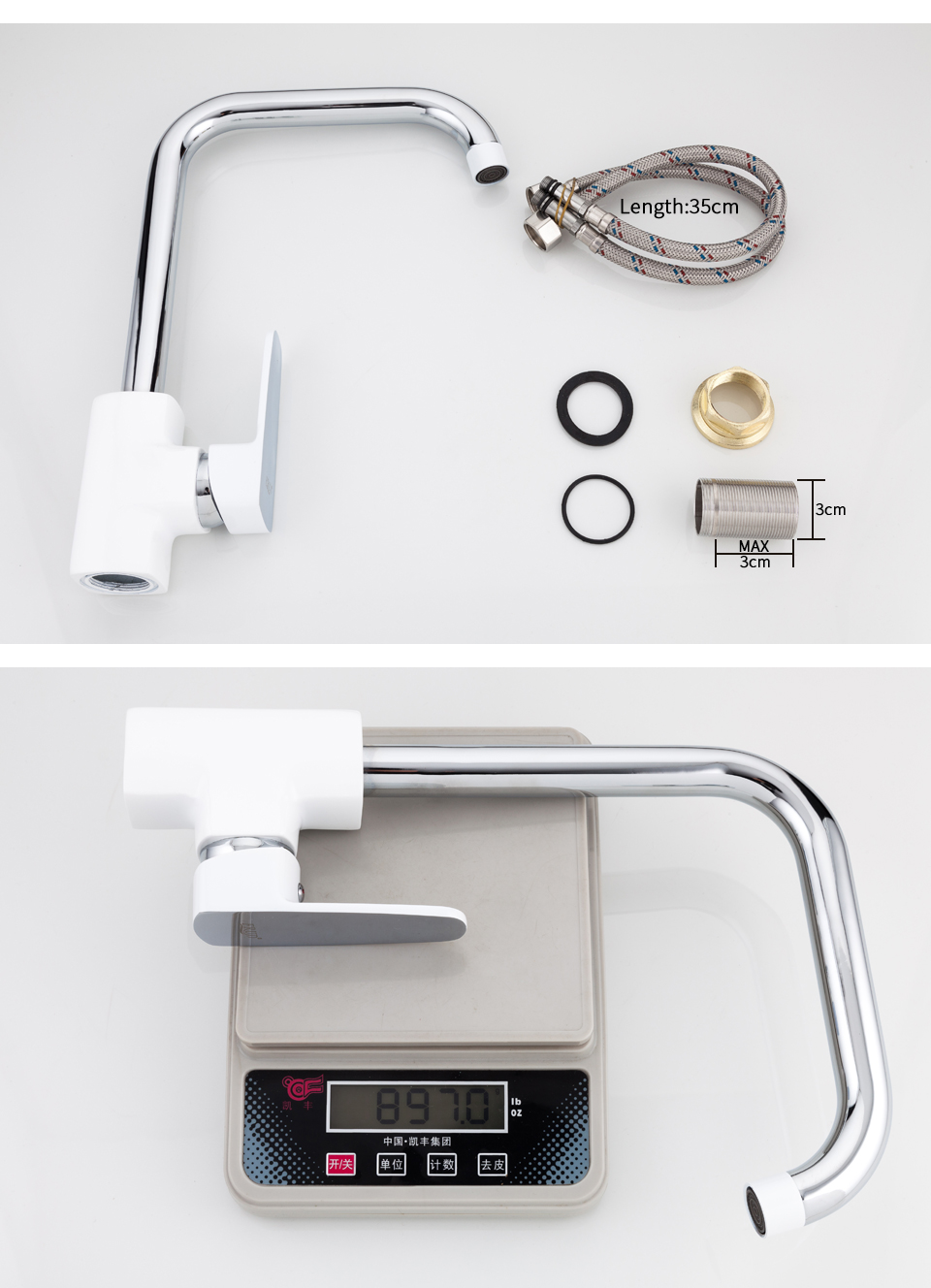 white kitchen faucets 10
