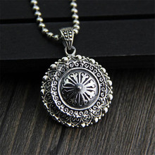 все цены на Thai Silver Wholesale S925 Silver Round Openable Gawu Box Pendant For Necklace Antique Crafts Shurangama Mantra Blossoming онлайн
