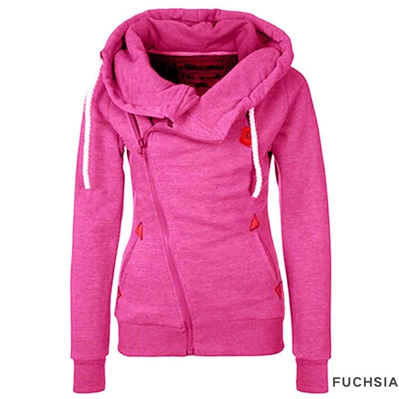 2017 Hoodie Women Sweatshirt Sweat Turn-down Collar Cardigans Tracksuit Female Bomber Jacket Women Basic Coats Chaquetas Mujer
