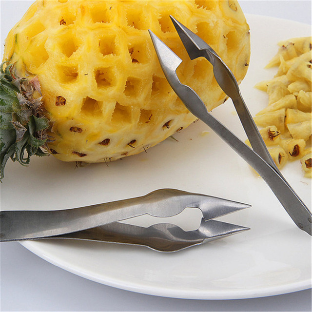1Pc Cheap Pineapple Eye Peeler Stainless Steel Cutter Practical Seed Remover Clip Home Kitchen Tools Free Ship 1