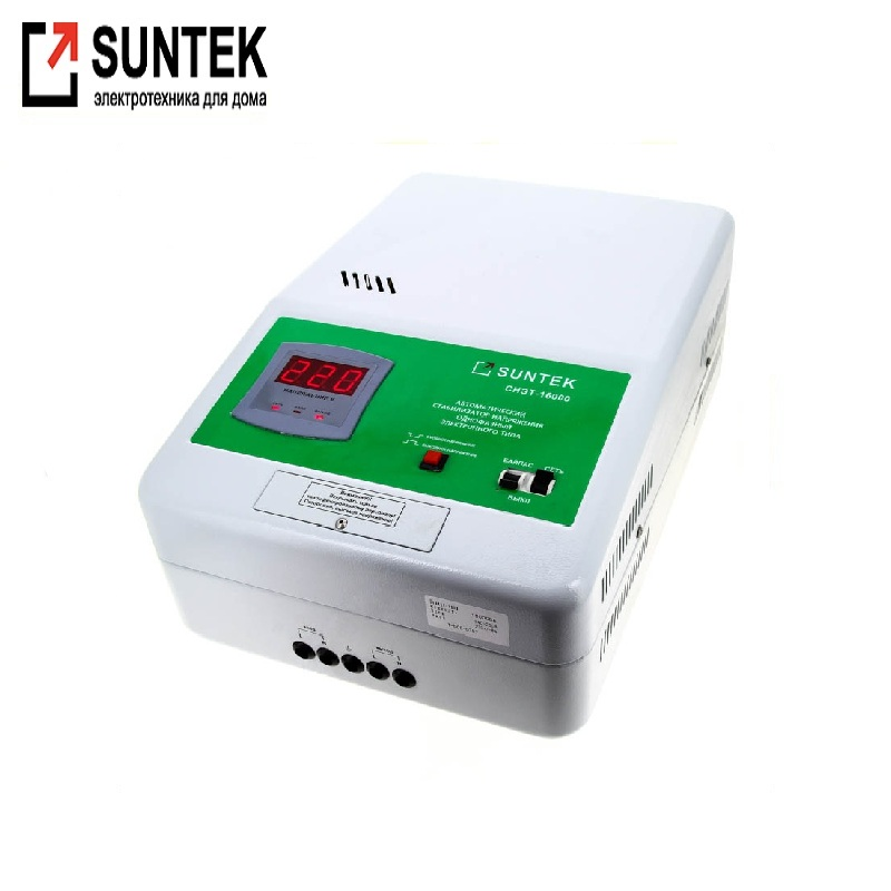 Relay voltage regulator SUNTEK 16000 VA Voltage regulator Automatic voltage regulator Power stab Constant-voltage source 40a 220v automatic recovery reconnect over under voltage protection relay