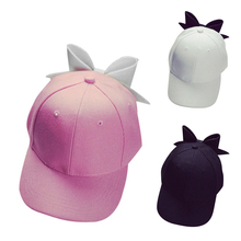 Women's Fashion Big Bowknot Baseball Cap Snapback Adjustable Hip Hop Flat Hat