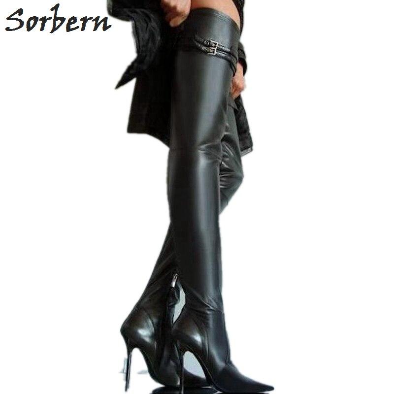 Sorbern/размеры 32 49, туфли на высоком каблуке, высокий каблук, металлические сапоги, см Женская см обувь на тонком высоком каблуке 10 см, 12 см, 14 см,