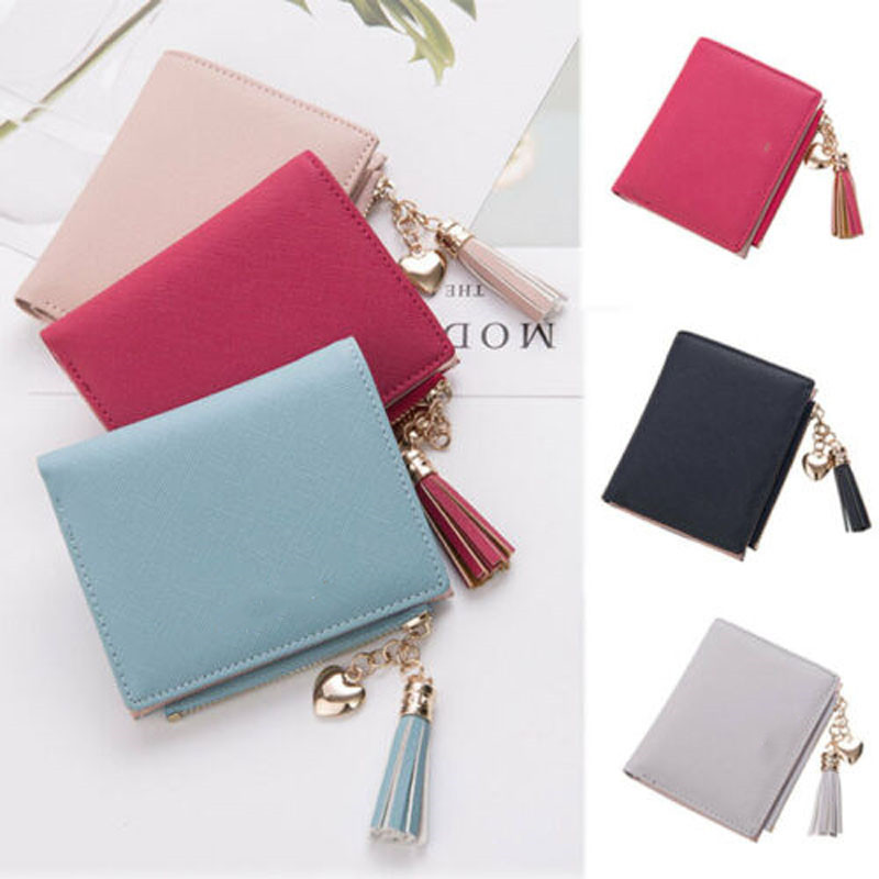 2019 New Brand Fashion US Women Girls Short Wallet Coin Purse Organizer Pocket Small Credit Card Holder