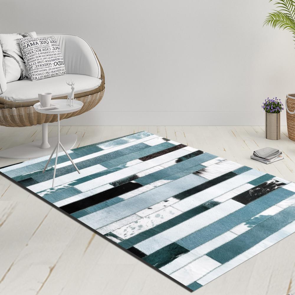 Else Blue Black White Vintage Stripes Lines Decorative 3d Print Anti Slip Kilim Washable Decorative Kilim Rug Modern Carpet