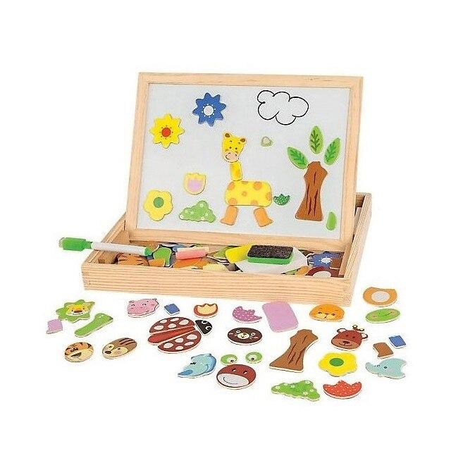 Bloques de madera MAPACHA 4925605 para niños y niñas juguetes educativos para niños y bebés MTpromo