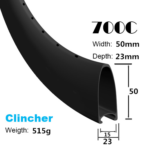 Light weight full carbon 50mm clincher road rims road bicycle CARBON wheel set 700C*50mm rims cycling rim 23/25mm