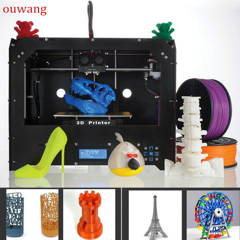 CTC FDM - Black Makerbot Replicator 3D-Printer -2 Extruders + 1 PLA filament NEW