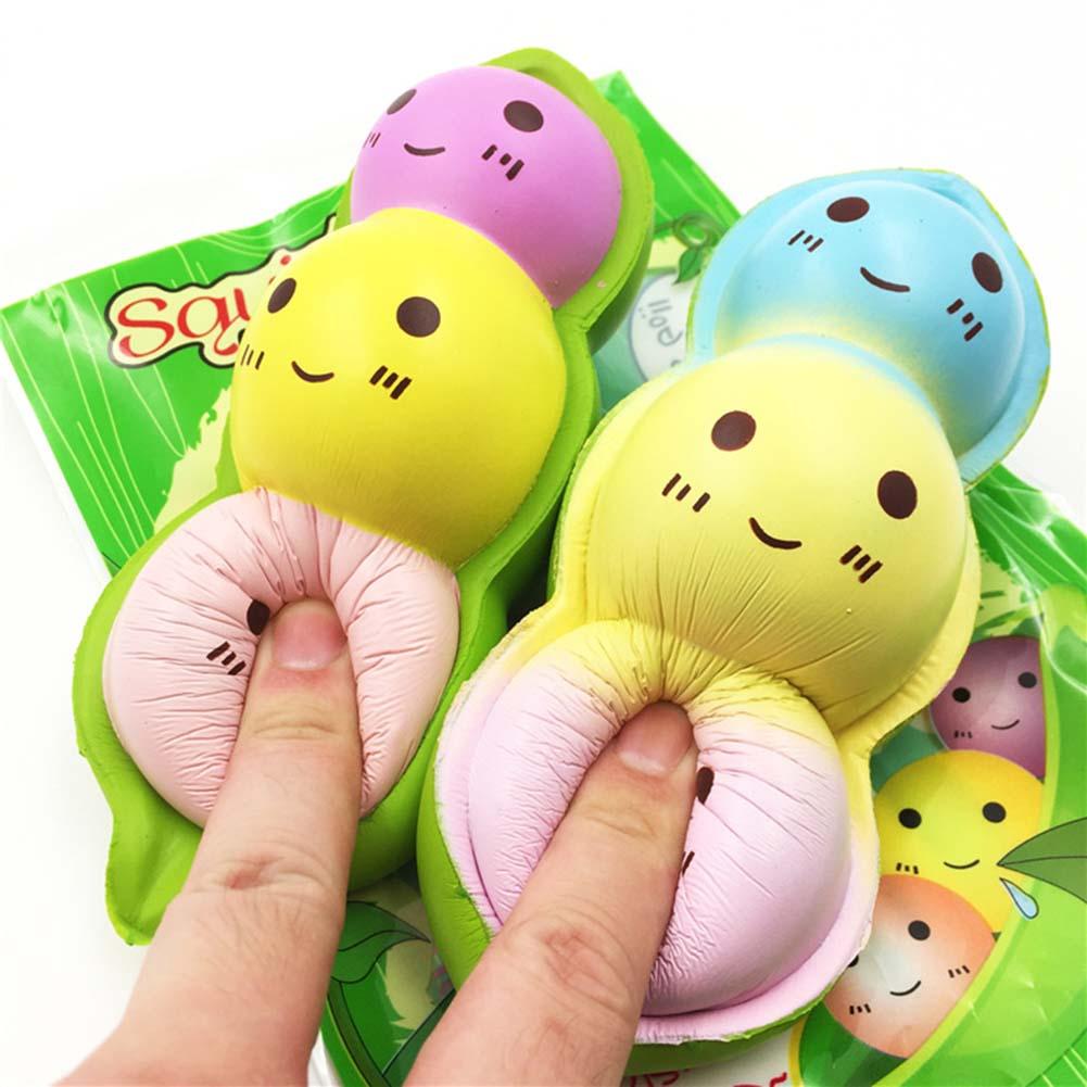 15CM Jumbo New Kawaii Face Pea Slow Rising Original Bean Pendant Phone Strap Stretchy Soft Squeeze Fun Kid Toy Gift