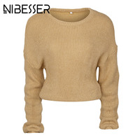 NIBESSER Fashion Autumn Sweaters Women Long Sleeve Knitted Sweaters Slim Knitwear Christmas Ugly Sweaters Winter 2017