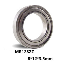 3 шт./лот MR128ZZ подшипник Глубокий шаровой Миниатюрный Мини подшипник MR128-ZZ 8*12*3,5 мм 8x12x3,5 52100 хромированная сталь
