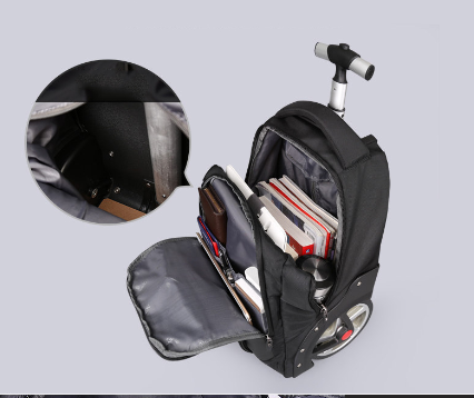 New design trolley rolling luggage big wheel trip shoulder bag travel men/women large-capacity suitcase light boarding valise photo review