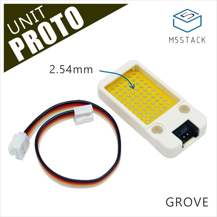 M5Stack Official Mini Proto Board Unit Universal Double Side Prototype 2.54mm PCB Grove Port Compatible ESP32 Development Kit