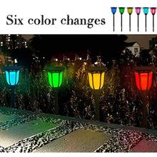 лучшая цена 6 Colors Solar Lights,Waterproof LED Solar Light for Garden Patio Yard Driveway Pathway Landscape Lawn Doorway Lights Patio