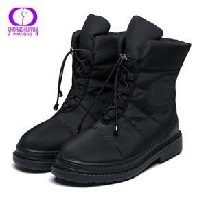 AIMEIGAO/высококачественные теплые зимние женские ботинки на меху; Водонепроницаемые ботинки с плюшевой подкладкой для женщин; Зимние ботинки ...