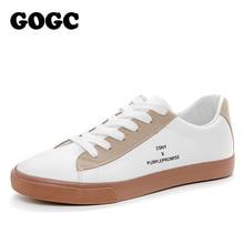 Купить с кэшбэком GOGC White Sneakers Women 2019 Spring Summer Breathable Platform Shoes Female Soft Women Sneakers Flat Shoes Causal Shoes Women