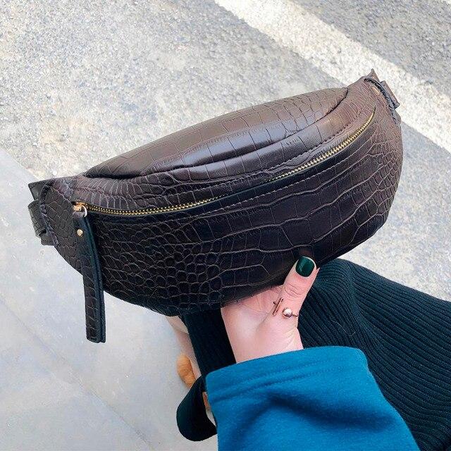 Крокодиловый узор ПУ кожа поясные сумки для женщин 2019 однотонные забавные сумки женские поясные сумки для телефона женский Забавный пакет