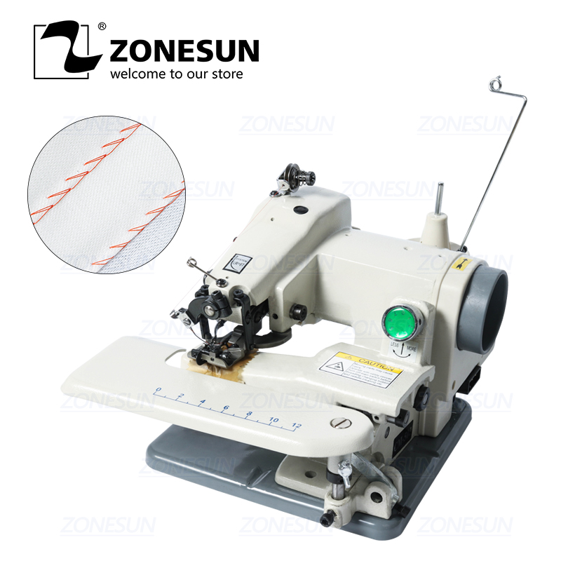 ZONESUN Household Blind-stitch Sewing Machine Direct Drive For Hat Sweater Neck Cuff Desktop Blind Trousers Sewing Machine 220V