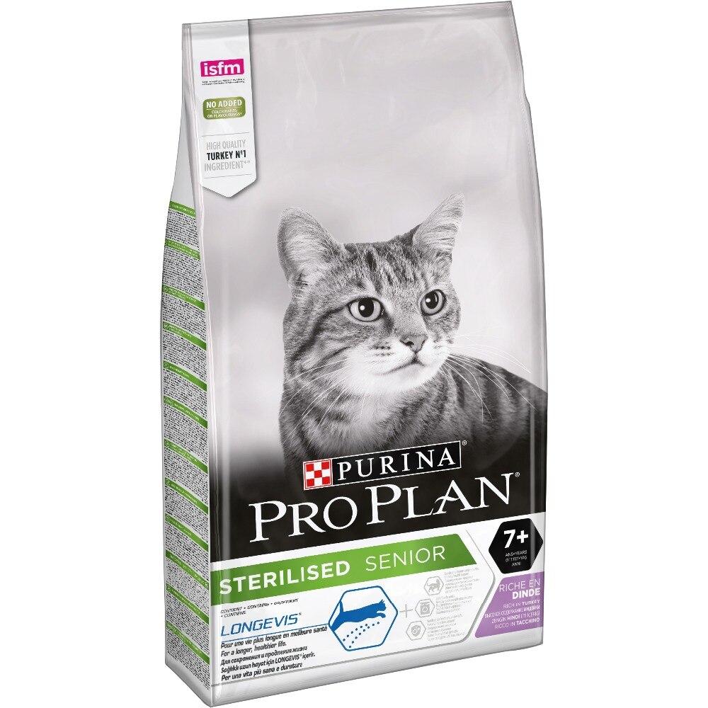 Pro Plan Sterilised Senior 7+ для кастрированных котов и стерилизованных кошек старше 7 лет, 10 кг