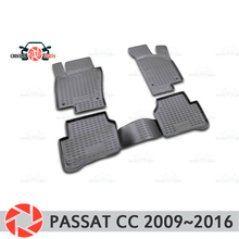 Коврики для Volkswagen Passat CC 2009 ~ 2016 ковры Нескользящие полиуретановые грязи защиты подкладке автомобиля средства укладки волос