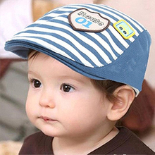 Fashion Baby Boy Girl Infant Striped Summer Baseball Cap Peaked Beret Hat Gift striped knot baseball cap