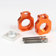 Free Shipping CNC Billet Rear Axle Blocks Spindle Chain Adjuster Block Fit for  SX/SX-F/EXC 1 set D20