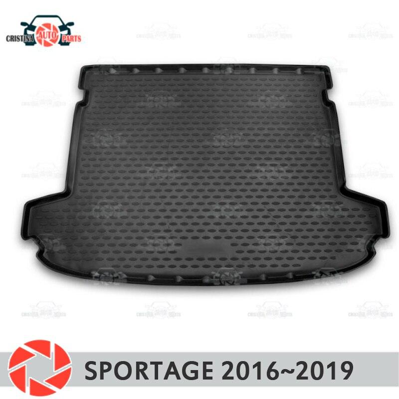 Stuoia del tronco per Kia Sportage 2016 ~ 2019 tronco piano tappeti antiscivolo poliuretano sporco di protezione del tronco interno car styling