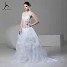 Eren Jossie Luxury White Ball Gown Wedding Dress With