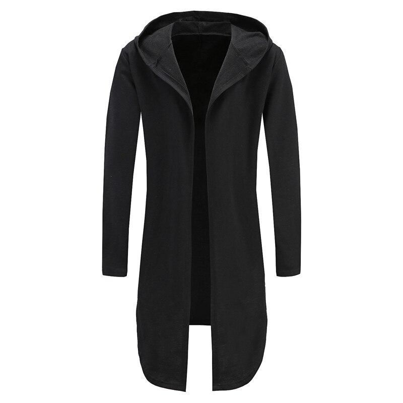 2018 толстовки мужские черные кардиган Для мужчин с капюшоном мантии человека платье толстовки Для мужчин Толстовка нерегулярные уличная ...