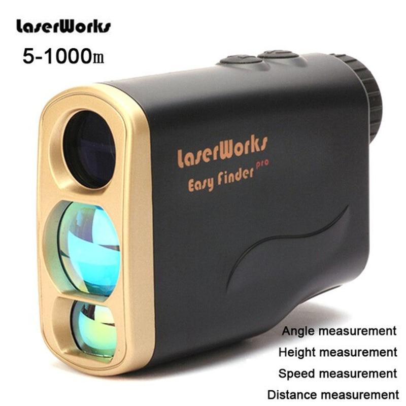 1000 m Golf Laser télémètre monoculaire télescope 6x21 extérieur multifonction Distance vitesse Angle hauteur mesure télémètre