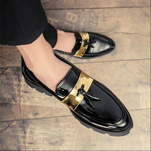 8e7f1e96 De moda de marca de lujo elegante oxford zapatos para Hombre Zapatos de  borla zapatos de cuero italiano formal vestido de oficin.