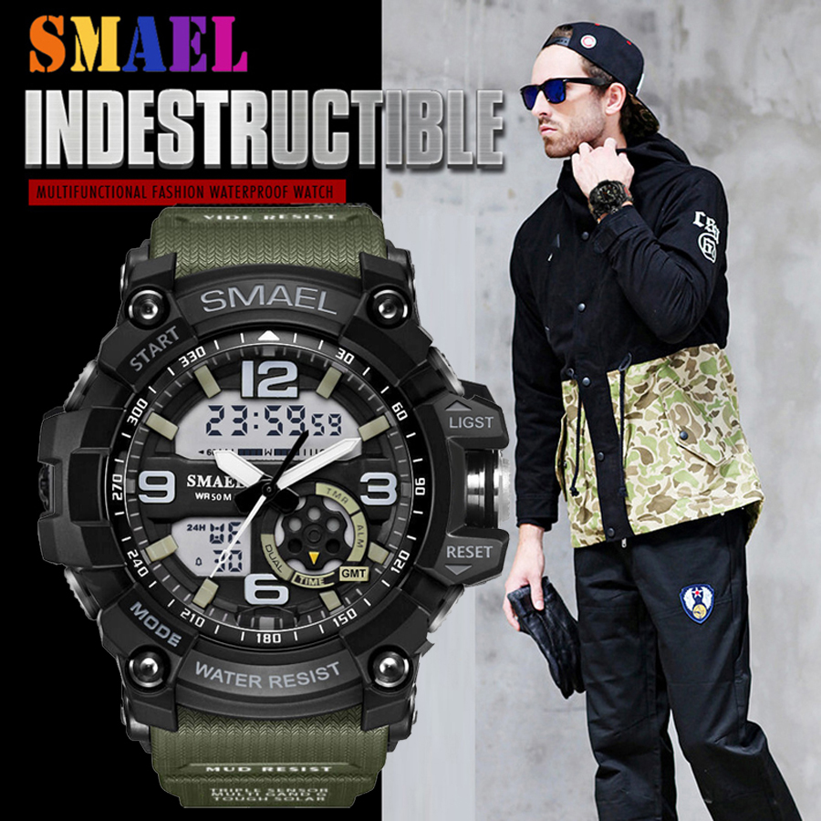 Top Brand SMAEL Military G Style Shock Men Watch Digital New Electronic Sport Watch Waterproof Male Clock LED Relogio Masculino лонгслив ruxara