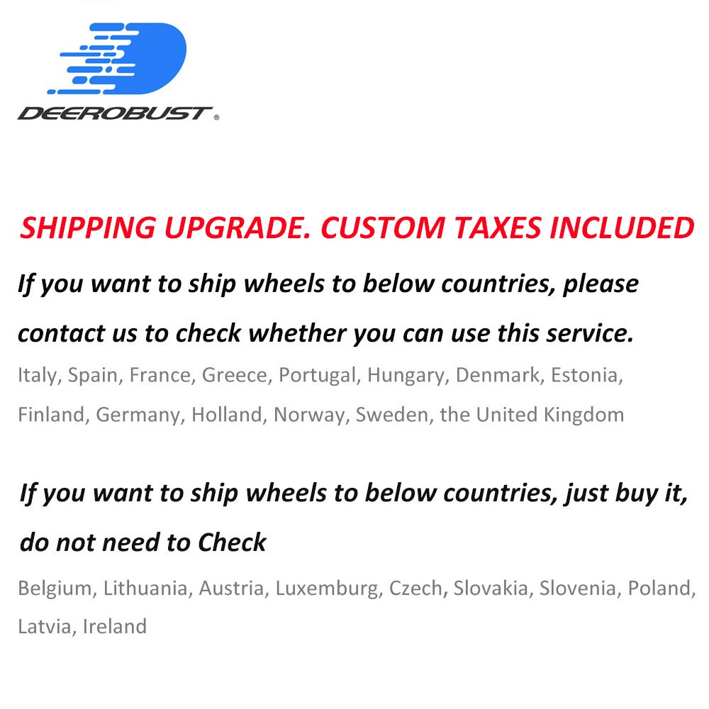 Shipping Upgrade for European Countries (check with us whether you can use this service) for Carbon RimsShipping Upgrade for European Countries (check with us whether you can use this service) for Carbon Rims