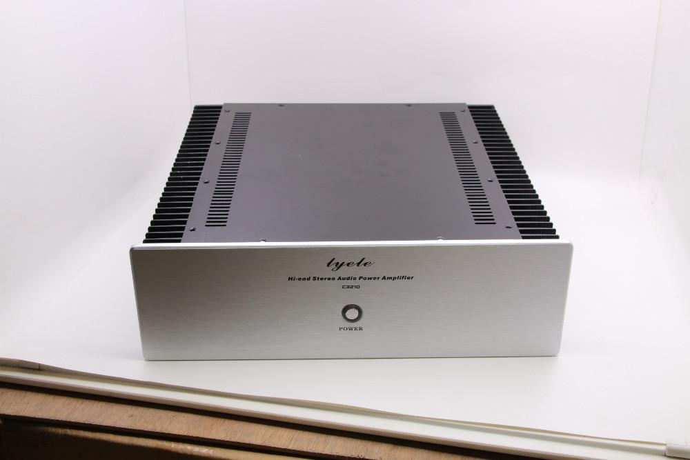 Q3-3 алюминиевая панель усилитель шасси/предусилитель/класс A/внешний радиатор/защитный корпус/Чехол/DIY коробка (320*100*300 мм)