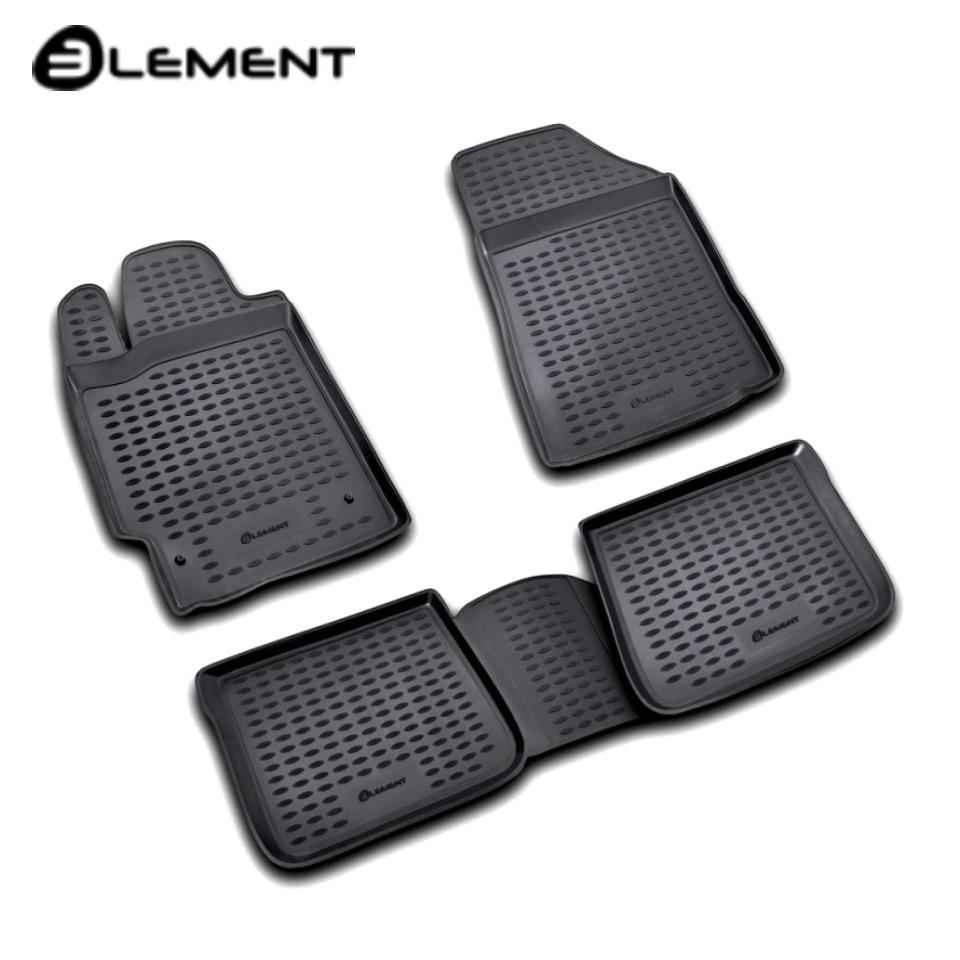 Floor mats into saloon for Toyota Camry XV40 2006-2011 4 pcs/set Element NLC4802210K цены