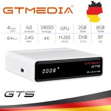 GTmedia GTS Satellite Receiver IPTV CCcam Android6.0 TV BOX+DVB-S/S2 Smart TV BOX Built-In WiFi HD 4K Remote Control Set Top Box