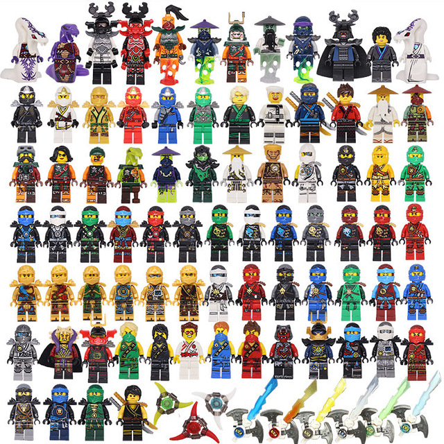 1ps Ninja Heroes Kai Jay Cole Zane Nya Lloyd Motorcycle With Weapons Building Blocks Figure Compatible Legoinglys Ninjagoinglys #1