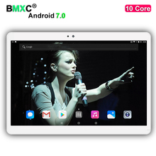 Free Shipping 10 inch tablet pc Deca 10 core MTK6797 3G 4G GPS Android 7.0 4GB 64gb Dual Camera 8.0MP 1920*1200 IPS Screen