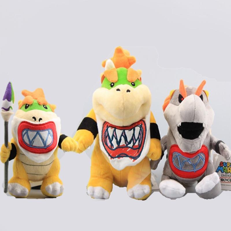 3Styles Super Mario Bros Standing Bowser JR Koopa Baby with Sword Gray King Bones Bowser Koopa Plush Toys Stuffed Dolls 18-20 CM(China)