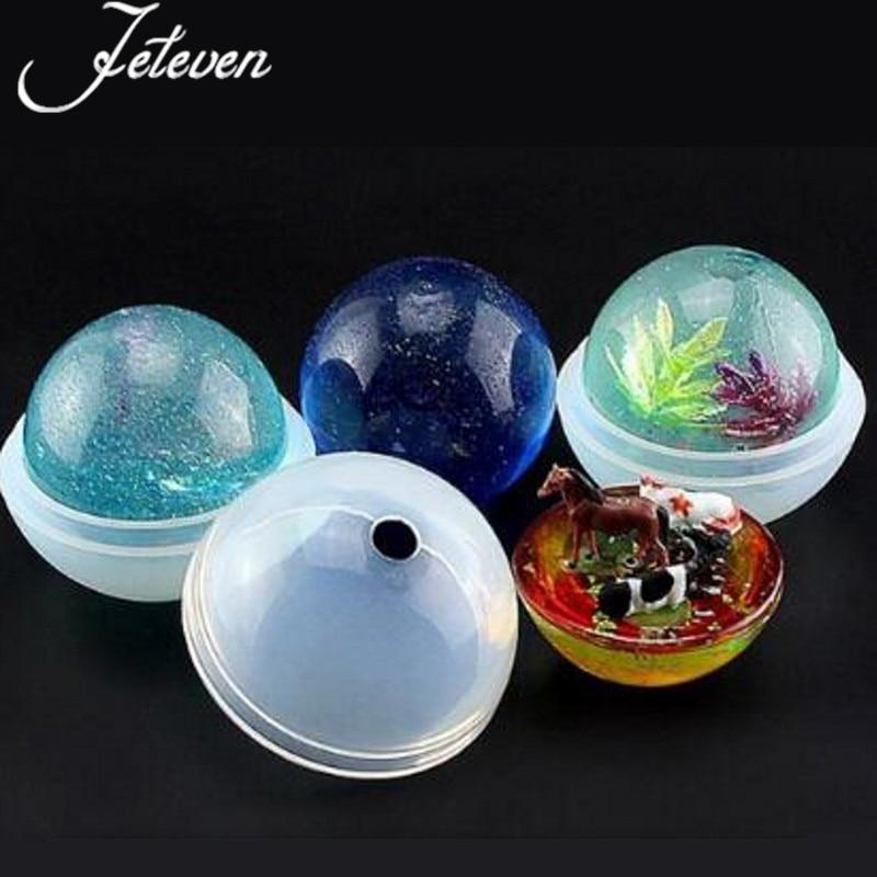 5 größen DIY Kugel Ball Silikon-Form-form für DIY Getrocknete Blume Harz Handwerk