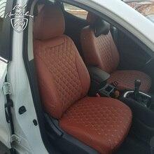 Для Nissan Qashqai J11 2014- Модельные авточехлы из экокожи (Модель Байрон)