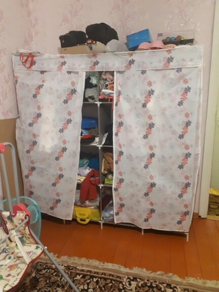 Modern Simple Wardrobe Household Fabric Folding Cloth Closet Storage Assembly King Size Reinforcement Combination Simple Cabinet
