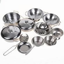 Apaffa Stainless Steel Kitchen Set 16pcs Toys For Children