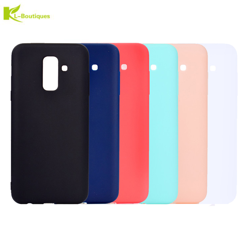 A6 2018 Candy Silicon Case For Fundas Samsung Galaxy A6 Plus 2018 Cases On For Samsung A 6 A6plus 2018 Slim TPU Soft Phone Cover