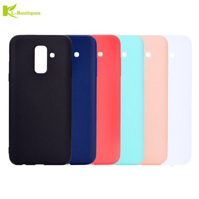 6c539e12552 A6 2018 dulces funda de silicona para Fundas Samsung Galaxy A6 Plus 2018  casos para Samsung