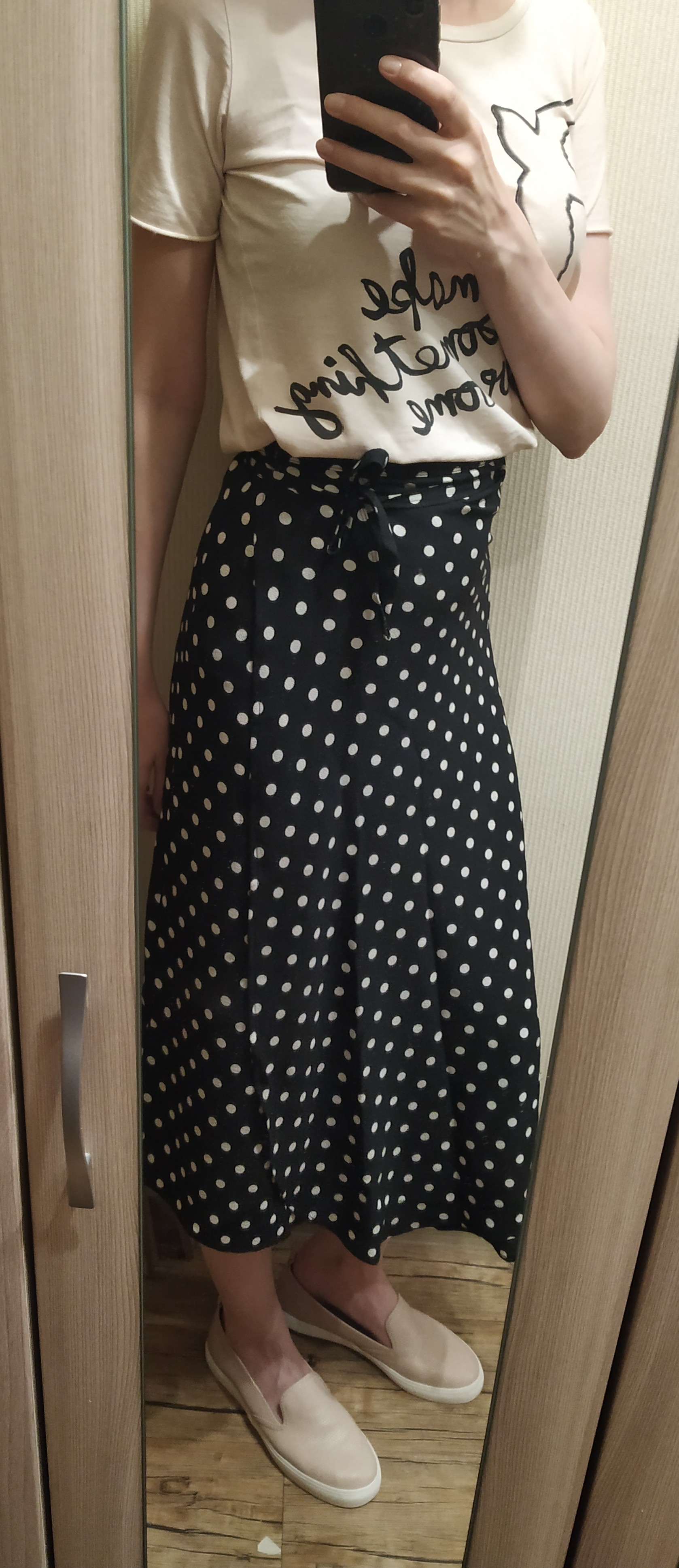 Summer Bohemian Polka Dotted One Piece Sashes Long Wrap Skirts Side Split Ruffled A Line Chiffon Beach Ankle Long Skirts photo review