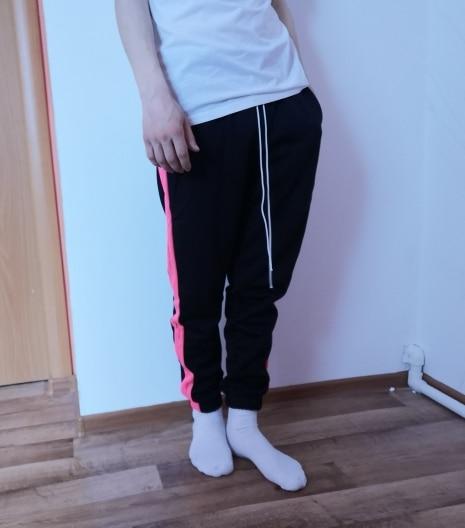 INFLATION 2019 Mens Sweatpants Side Stripe Letter Printing Contrast Color Jogger Elastic Waist Mens SweatPants 357W17