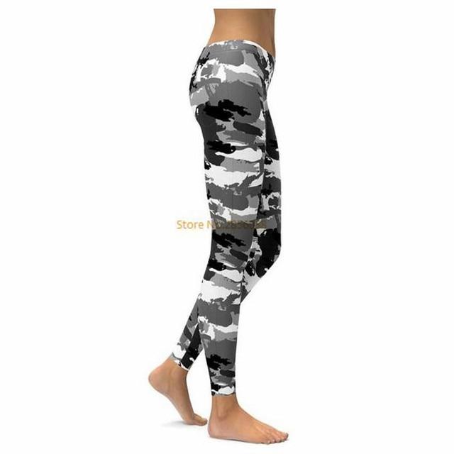 29295ca7016607 BLACK & WHITE CAMO LEGGINGS 3D Print 2017 New Women Pants Fashion Straight  Elastic Waistband
